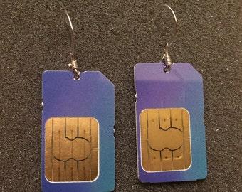 SIM Card Earrings
