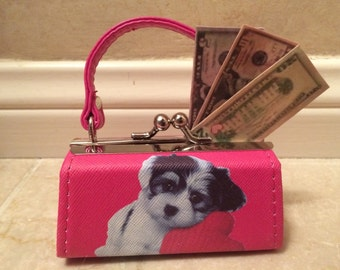 American Girl Doll Handmade Money, Plus a Pink Puppy-Love Purse!