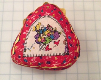 Whimsical Sewing Lady pin cushion