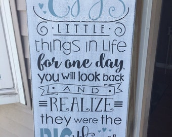 Enjoy the little things in life/wood sign/ home decor