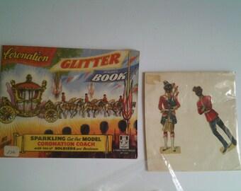 1950's British Coronation glitter model book