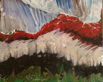 "12"" x 12"" Original Acrylic Painting- ""Settling Sun"" Art Love by Stacia"