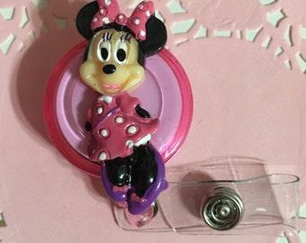 Minnie Mouse ID Holder Badge Reel