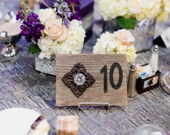 Rustic Wedding Table Numbers  / Wooden Table Numbers
