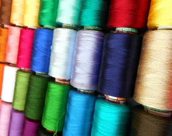 10 Spools of Indian Silk Thread | Machine Embroidery Thread | Viscose Rayon Silk thread | beading thread | Indian silk thread | art silk