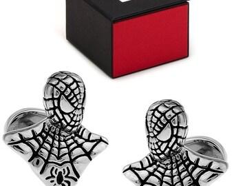 MARVEL SpiderMan 3-D Cufflinks FREE Marvel Gift Box Spiderman Cuff Links
