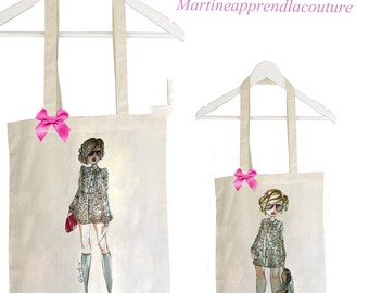 Tote bag duo mother daughter model FILAIE