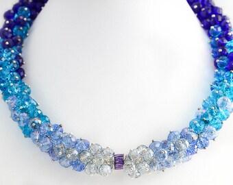 "Necklace ""Transparent ice"""