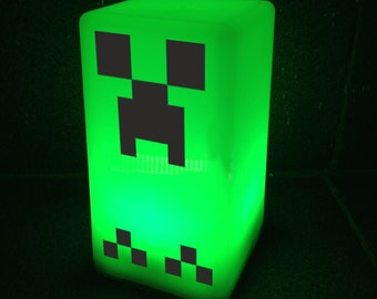 Led Night Lamp Minecraft Creper