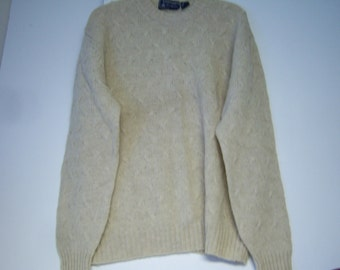 Damon Sweater, Man's Knitted Sweater, Marked Size XL, Made in British Hong Kong,   Wool Dry Clean Only, Very Good Clean Condition, Pre Owned