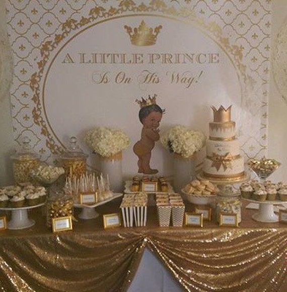 gold white royal blue baby prince crown baptism. Black Bedroom Furniture Sets. Home Design Ideas
