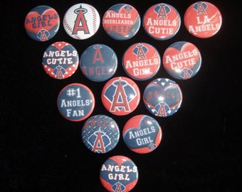 LA Angels Buttons Set of 15