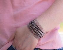 women's bangle bracelet, cuff seed bead bracelet, emmsjewellery,bracelet jewelry,hand-sitched, handmade,light lilac colour,beard woven,