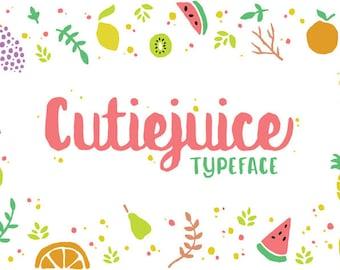 Cutiejuice Typeface