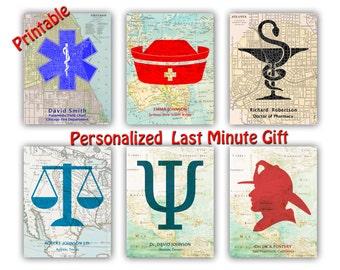 Graduation Gifts, Pharmacy Gift, Pharmacist gift, Physician graduation, Nurse Graduation, Doctor, Teacher, Firefighter, Policeman, PRINTABLE