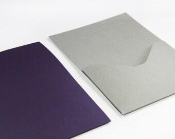 25 - A7 Pocket Cards Invitation - Matte Finish - 5 x 7