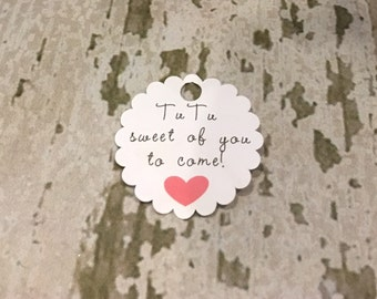Baby Girl Tutu Shower Tags