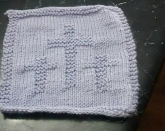3 Cross washcloths