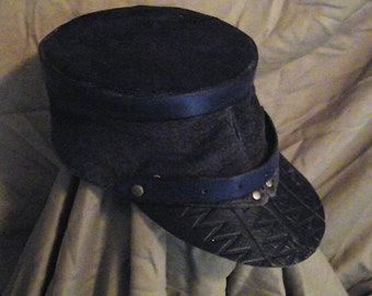 Old-Timey Cadet Cap Leather #20