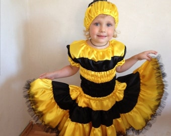 Bee costume, helloween costume, bee dress, boy bee costume, girl bee costume, kids costume, girls costume, Girls Halloween, helloween,