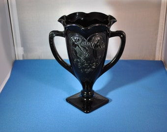 Black Amethyst - Two Dancing Nymphs Vase