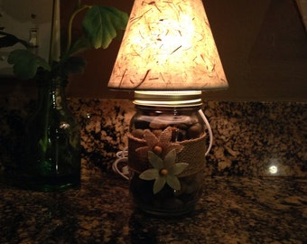 Mason Jar Accent Lamp