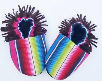 Baby Shoes, Infant, Kids Crib Shoe/Moccasin - SERAPE moccs