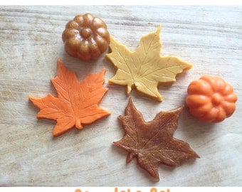Fall Leaves and Pumpkin Soap Sets - Choose Your Set - Autumn Soap - Fall Soap Gift