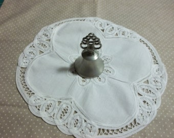 Woodbury Vintage Pewter Bell with detailed handle