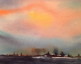 Sailors delight - original watercolor