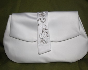Wedding pocketbook or clutch made from your upcycled wedding dress.