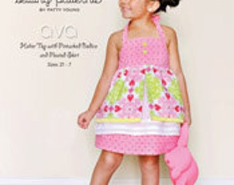 ModKid - Ava - Paper Sewing Pattern for Girl's Halter Top and skirt