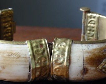 Bone and Brass Bangle