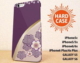 iPhone5 case iPhone5s case iPhone6 case iPhone6s case iPhone6 Plus  case iPhone6s Plus case GALAXY case Flower of the plum Purple