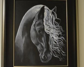 Horse paintings, Horse Art, Equestrian Art, Friesian Art