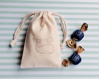 Whale Favor Bags - Baby Shower Bags - Birthday Favor Bags - Party Favor Bags - Treat Bags