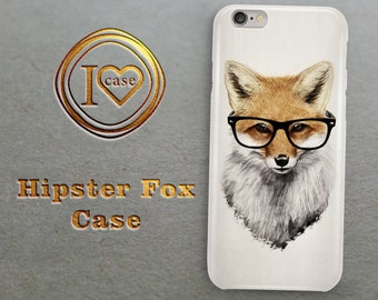 Hipster Fox Case iPhone 6 Plus Case, iPhone 6 Case, Case for iPhone, iPhone 5s Cover, Animal Print iPhone 5c Case, HTC M9 case, HTC m8 case