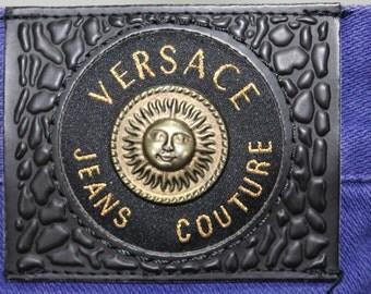 Versace Pants Women Medusa SUN Versace Jeans Couture Versace Jeans Vintage Versace Pants Made In ITALY