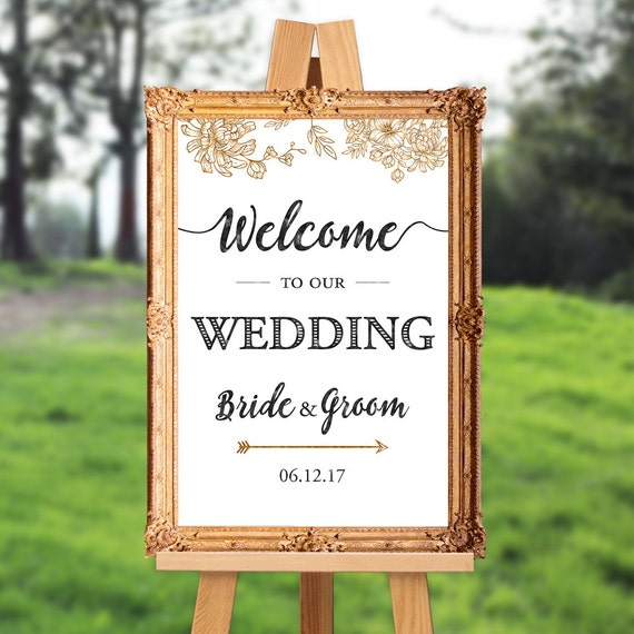 Wedding Welcome Sign Welcome To Our Wedding PRINTABLE