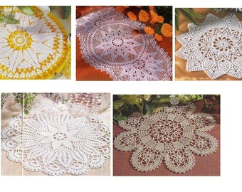 5 pcs crochet doily pattern-only diagram-in pdf-25