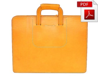 Leather briefcase , pattern in PDF