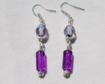 Pretty Purple Earrings