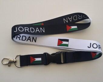Jordan flag reversible lanyard