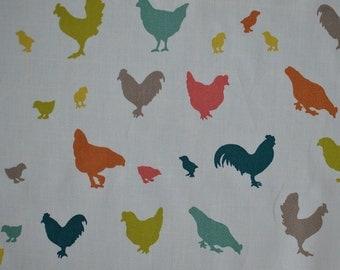 Organic Cotton Chicken Fabrio - quilting cotton