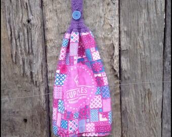 Crocheted Tea Towel/Cupcakes
