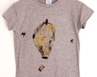 Tshirt Hot-air balloon. Printed Tshirt for Man