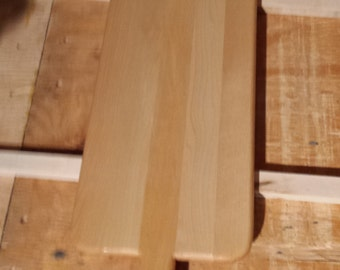 maple bread board with handle