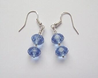 Light blue crystal earrings (16.007)