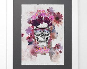 Skull Wall Art Home Decor Digital Art Poster.
