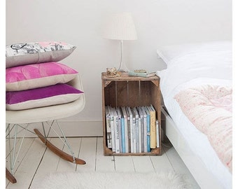 Recycled wood bookcase-bedside nightstand wood bookcase